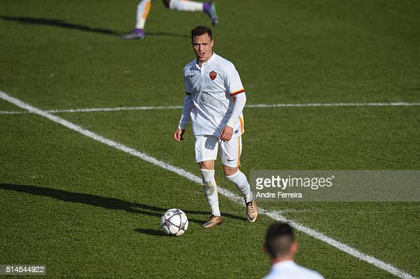 Lorenzo Di Livio of AS Roma during the Youth League match between Paris SaintGermain and AS Roma at Camp des Loges on March 9 2016 in Paris France