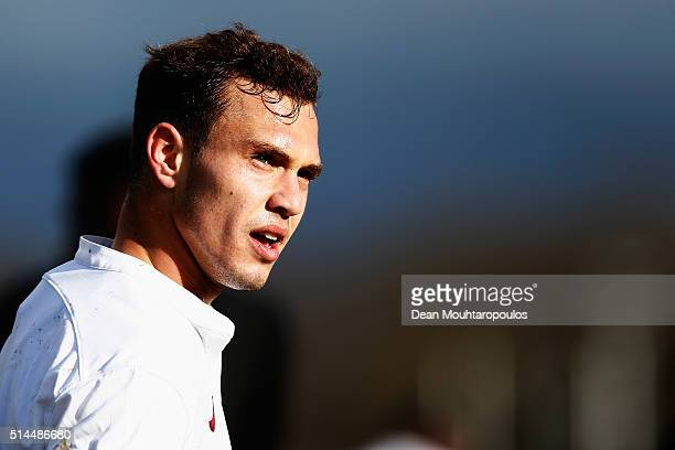 Lorenzo Di Livio of Roma looks on during the UEFA Youth League Quarterfinal match between Paris Saint Germain and AS Roma at Stade GeorgesLefevre on...