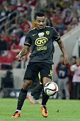 Lorenzo Ebecilio of FC Anzhi Makhachkala seen during the Russian Football PremiereLeague match beween Spartak Moscow and FC Anzhi Makhachkala at...