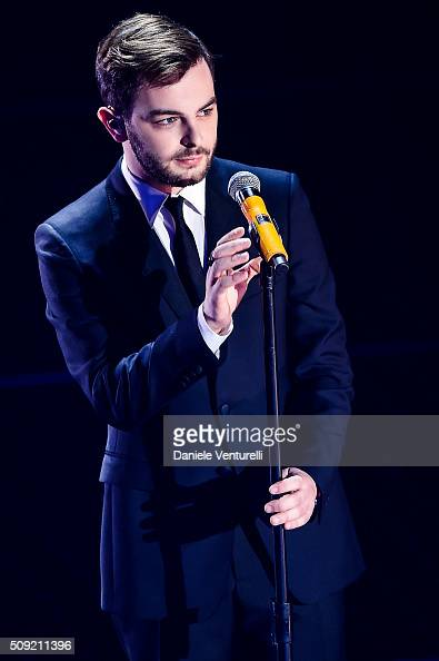 Lorenzo Fragola attends the opening night of the 66th Festival di Sanremo 2016at Teatro Ariston on February 9 2016 in Sanremo Italy