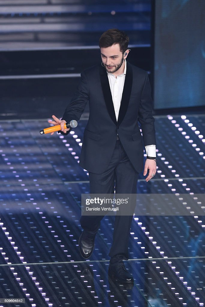 Lorenzo Fragola attends the third night of the 66th Festival di Sanremo 2016 at Teatro Ariston on February 11, 2016 in Sanremo, Italy.