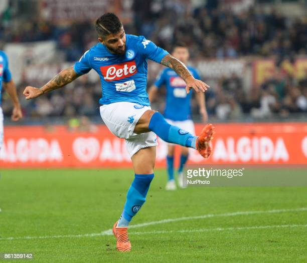 Lorenzo Insigne during the Italian Serie A football match between AS Roma and SSC Napoli at the Olympic Stadium in Rome on october 14 2017