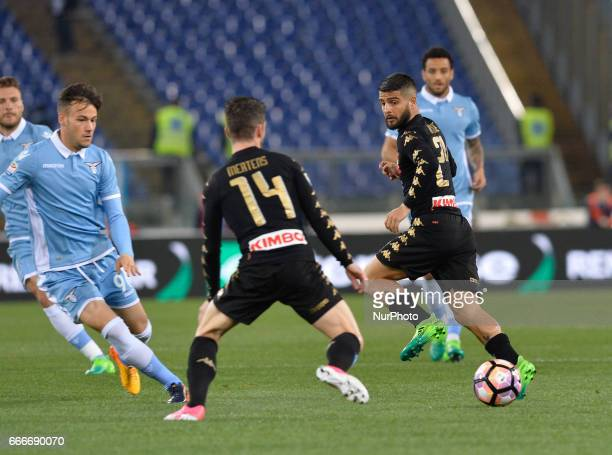 Lorenzo Insigne during the Italian Serie A football match between SS Lazio and AC Napoli at the Olympic Stadium in Rome on april 09 2017