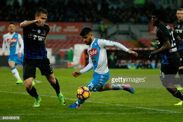Lorenzo Insigne during the Italian Serie A soccer match between SSC Napoli and Atalanta at the San Paolo stadium Atalanta beats Napoli at San Paolo...