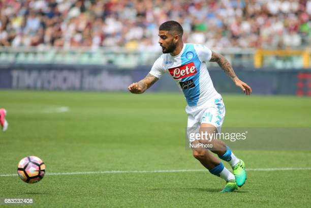 Lorenzo Insigne in action during the Serie A football match between Torino FC and SSC Napoli at Olympic stadium Grande Torino on may 14 2017 in Turin...