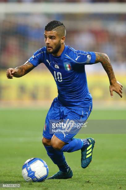 Lorenzo Insigne of Italy during the FIFA World Cup 2018 qualification football match between Italy and Israel at Mapei Stadium in Reggio Emilia on...