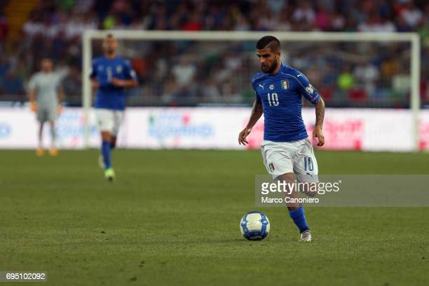 Lorenzo Insigne of Italy during the WC 2018 football qualification match between Italy and Liechtenstein Italy went on to win the match 50