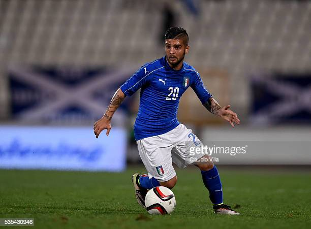 Lorenzo Insigne of Italy in action during the international friendly between Italy and Scotland on May 29 2016 in Malta Malta