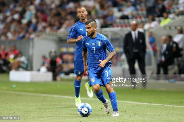 Lorenzo Insigne of Italy in action during the international friendly match between Italy and Uruguay Italy wins 30 over Uruguay