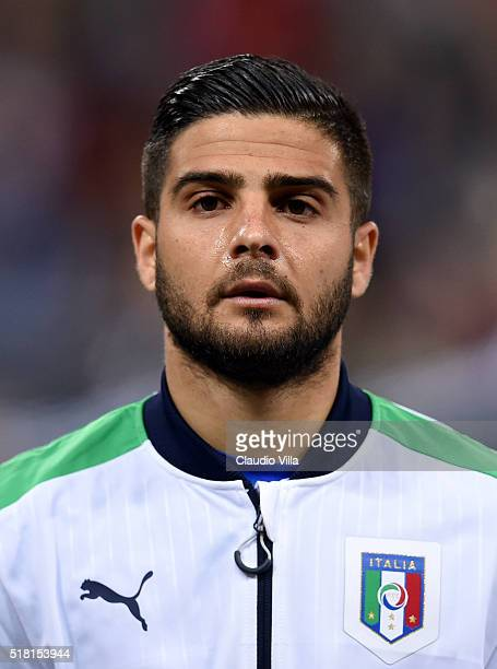 Lorenzo Insigne of Italy poses prior to the international friendly match between Germany and Italy at Allianz Arena on March 29 2016 in Munich Germany