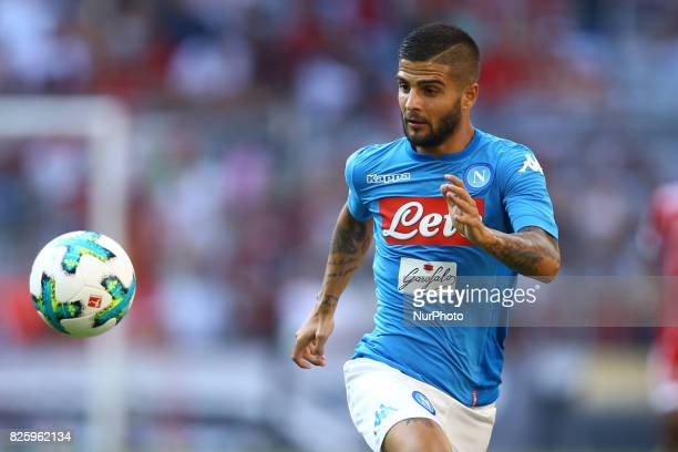 Lorenzo Insigne of Napoli during the Audi Cup 2017 match between SSC Napoli and FC Bayern Muenchen at Allianz Arena on August 2 2017 in Munich Germany