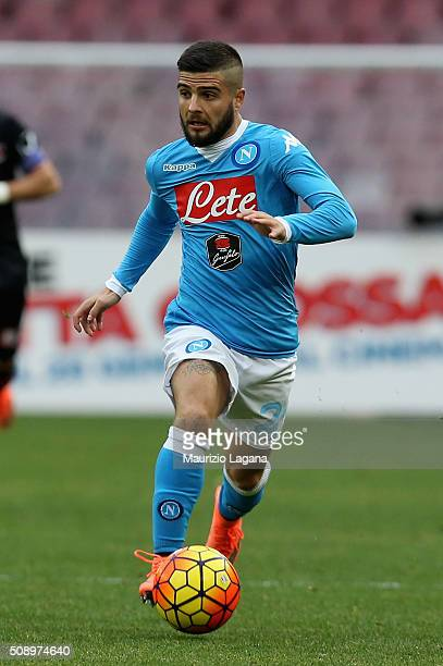 Lorenzo Insigne of Napoli during the Serie A match between SSC Napoli and Carpi FC at Stadio San Paolo on February 7 2016 in Naples Italy