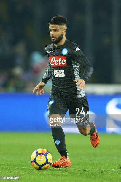 Lorenzo Insigne of Napoli during the Serie A match between SSC Napoli and Juventus at Stadio San Paolo on December 1 2017 in Naples Italy