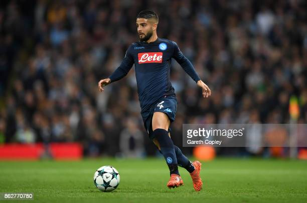 Lorenzo Insigne of Napoli during the UEFA Champions League group F match between Manchester City and SSC Napoli at Etihad Stadium on October 17 2017...