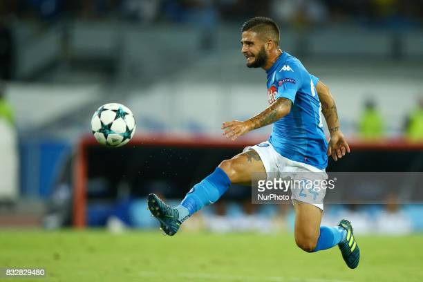 Lorenzo Insigne of Napoli during the UEFA Champions League Play Off first leg football match SSC Napoli vs OCG Nice on August 16 2017 at the San...
