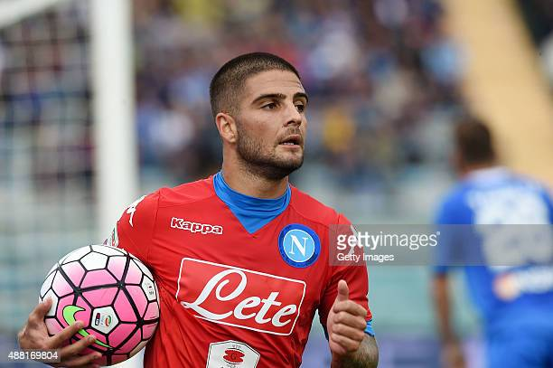 Lorenzo Insigne of Napoli in action during the Serie A match between Empoli FC SSC Napoli at Stadio Carlo Castellani on September 13 2015 in Empoli...