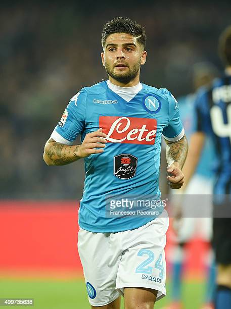 Lorenzo Insigne of Napoli in action during the Serie A match between SSC Napoli and FC Internazionale Milano at Stadio San Paolo on November 30 2015...
