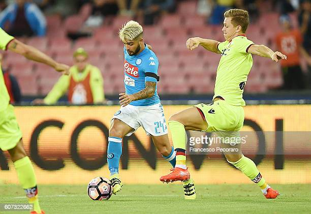 Lorenzo Insigne of Napoli in action during the Serie A match between SSC Napoli and Bologna FC at Stadio San Paolo on September 17 2016 in Naples...