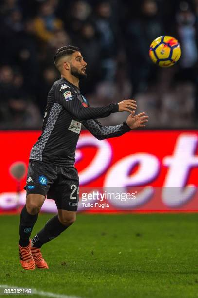 Lorenzo Insigne of Napoli in action during the Serie A match between SSC Napoli and Juventus at Stadio San Paolo on December 1 2017 in Naples Italy