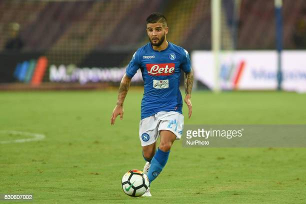 Lorenzo Insigne of SSC Napoli during the Preseason Frendly match between SSC Napoli and RCD Espanyol at Stadio San Paolo Naples Italy on 10 August...