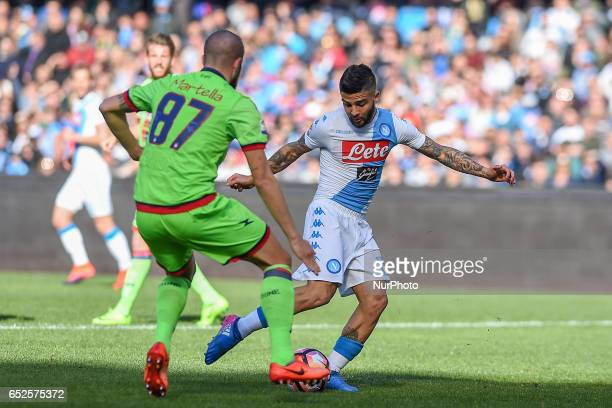 Lorenzo Insigne of SSC Napoli during the Serie A TIM match between SSC Napoli and FC Crotone at Stadio San Paolo Naples Italy on 12 March 2017