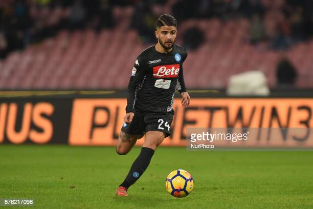 Lorenzo Insigne of SSC Napoli during the Serie A TIM match between SSC Napoli and AC Milan at Stadio San Paolo Naples Italy on 18 November 2017