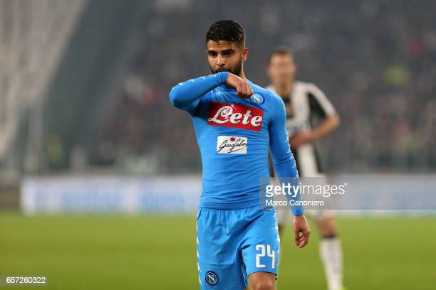 Lorenzo Insigne of Ssc Napoli during the TIM Cup semifinal first leg football match between Juventus FC and SSC Napoli Juventus FC wins 31 over SSC...