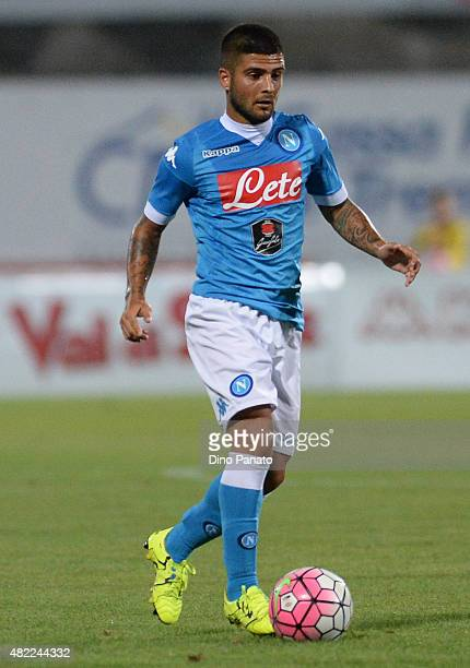 Lorenzo Insigne of SSC Napoli in action during the preseason frienldy match between SSC Napoli and Feralpi Salo at Stadio Briamasco on July 24 2015...