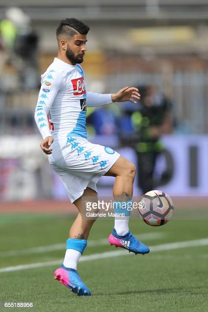 Lorenzo Insigne of SSC Napoli in action during the Serie A match between Empoli FC and SSC Napoli at Stadio Carlo Castellani on March 19 2017 in...