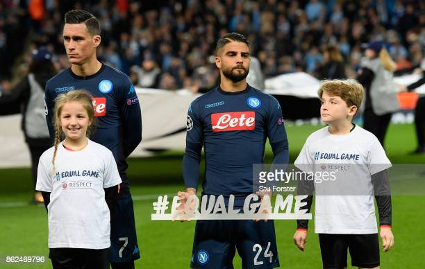 Lorenzo Insigne of SSC Napoli poses for a photo prior to the UEFA Champions League group F match between Manchester City and SSC Napoli at Etihad...