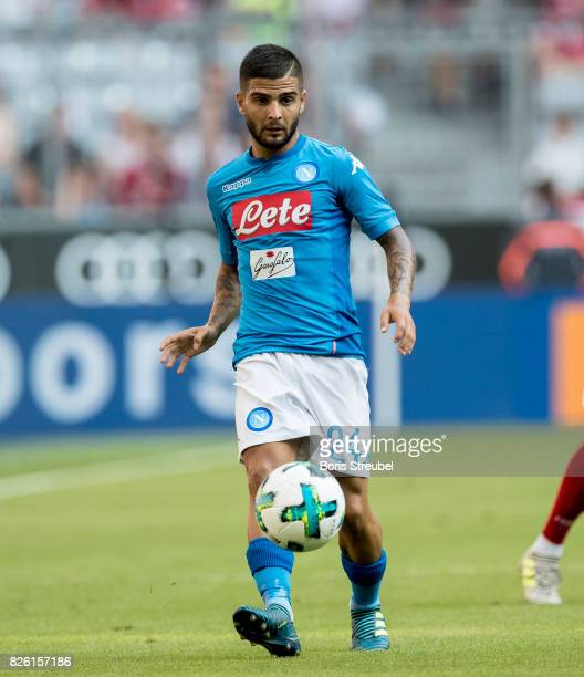 Lorenzo Insigne of SSC Napoli runs with the ball during the Audi Cup 2017 match between SSC Napoli and FC Bayern Muenchen at Allianz Arena on August...