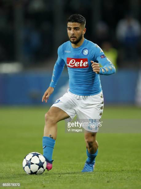 Lorenzo Insigne of SSC Napoliduring the UEFA Champions League round of 16 match between SSC Napoli and Real Madrid on March 07 2017 at the Stadio San...