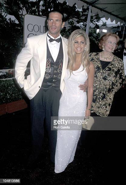 Lorenzo Lamas and Shauna Sands during 53rd Annual Golden Globe Awards at Beverly Hilton Hotel in Beverly Hills California United States