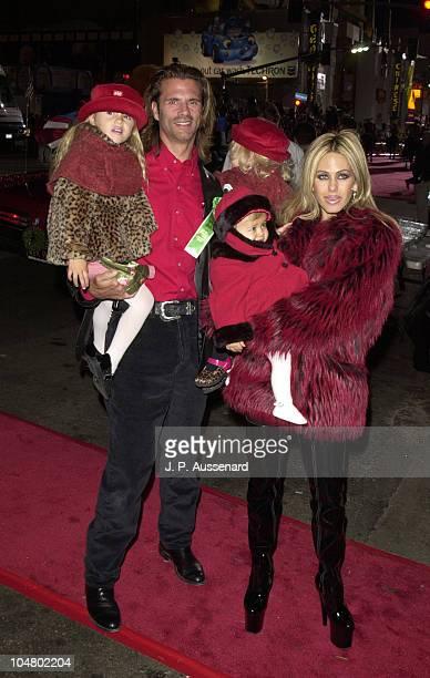 Lorenzo Lamas Shauna Sand and Daughters during 70th Hollywood Christmas Parade at Hollywood Boulevard in Hollywood California United States