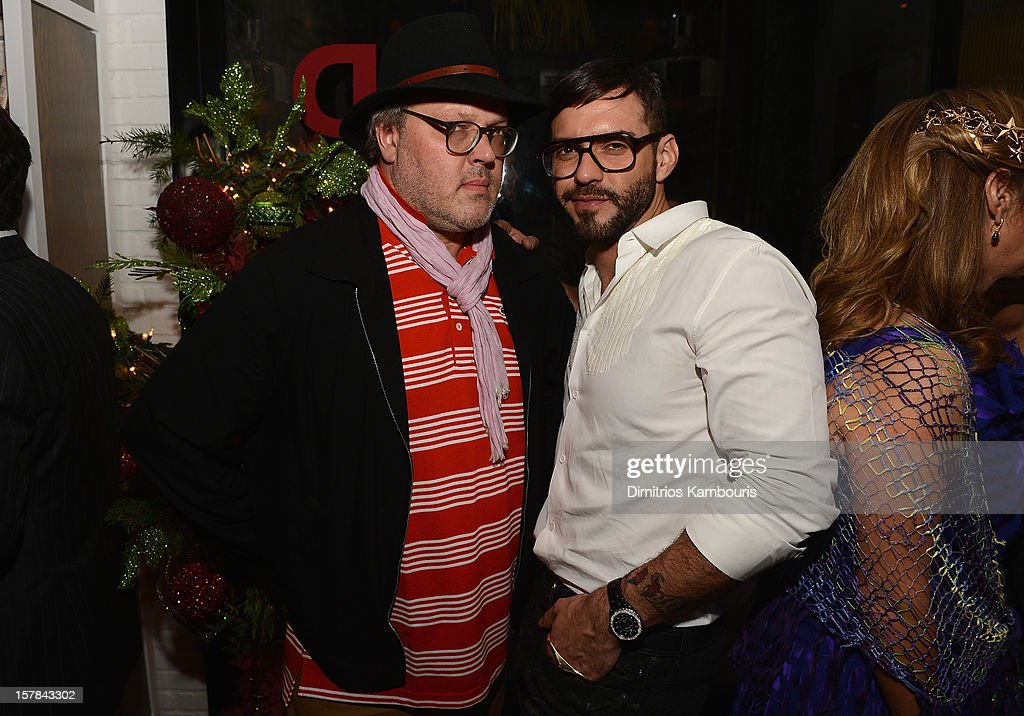 Lorenzo Martone (R) attends the Aby Rosen & Samantha Boardman dinner at The Dutch on December 6, 2012 in Miami, Florida.