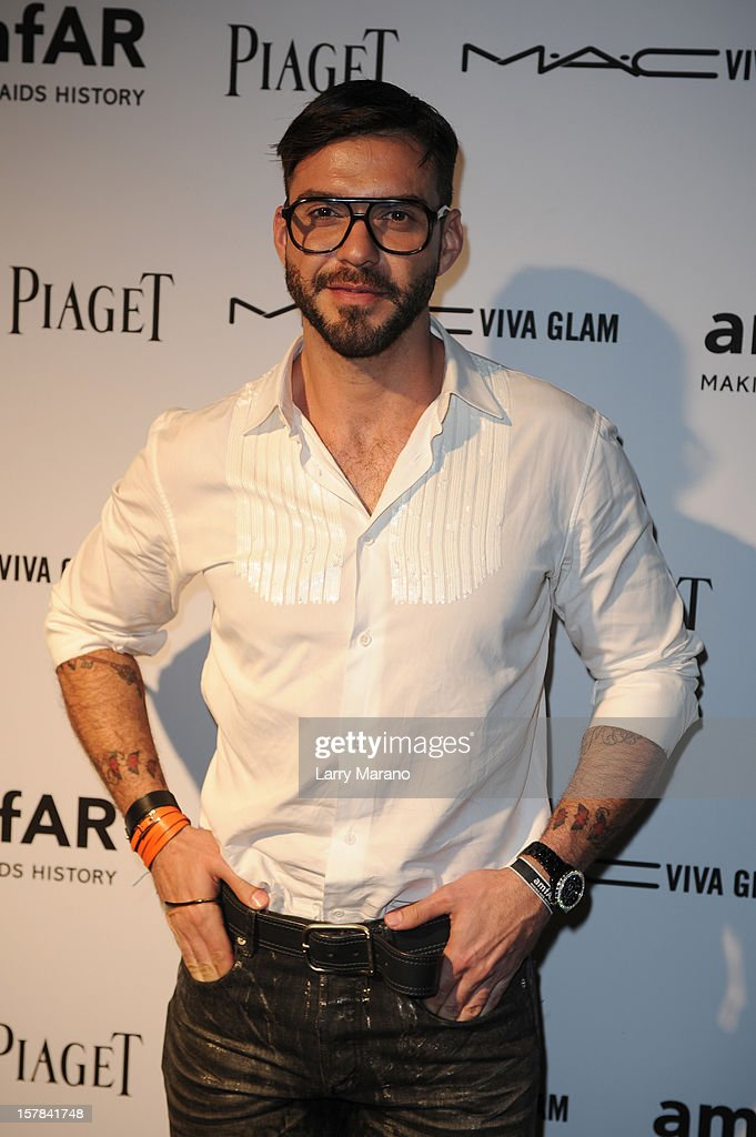 Lorenzo Martone attends the amfAR Inspiration Miami Beach Party at Soho Beach House on December 6, 2012 in Miami Beach, Florida.