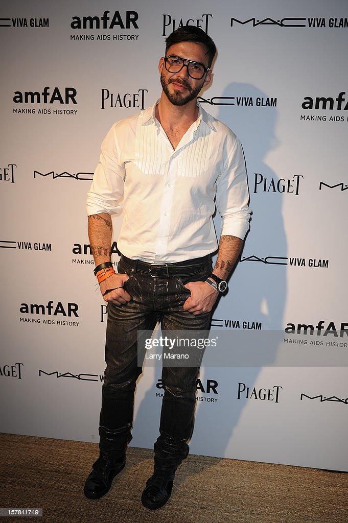 Lorenzo Martone attends the amfAR Inspiration Miami Beach Party at Soho Beach House on December 6, 2012 in Miami Beach, Florida.