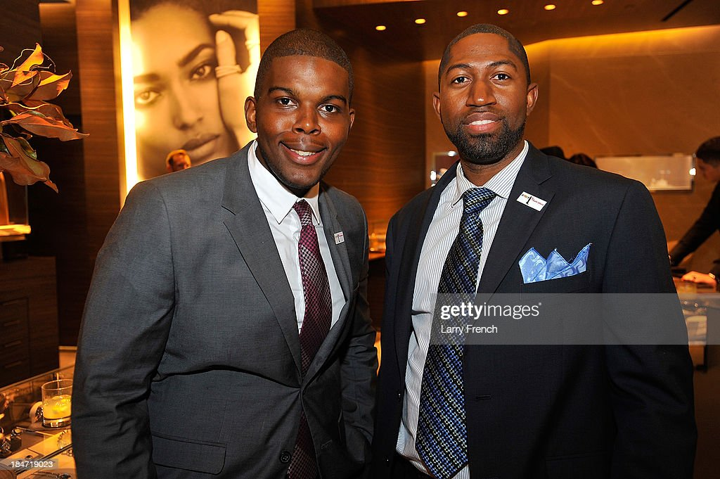Lorenzo McDonald and Selvon Waldron are seen at the David Yurman Meteorite Launch With Chris Baker on October 15, 2013 in Mclean, Virginia.