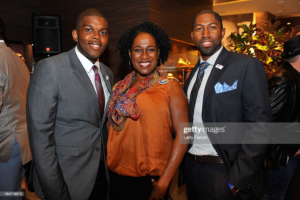 Lorenzo Mcdonald, Mary Brown and Selvon Waldron are seen at the David Yurman Meteorite Launch With Chris Baker on October 15, 2013 in Mclean, Virginia.
