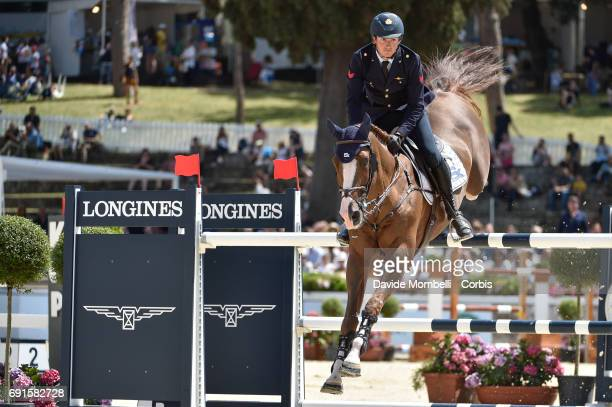 Lorenzo of Italy riding HALIFAX VAN HET KLUIZEBOS during the Piazza di Siena Bank Intesa Sanpaolo in the Villa Borghese on May 27 2017 in Rome Italy