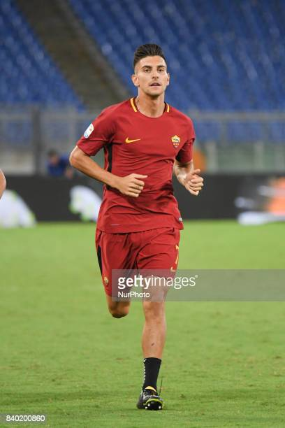 Lorenzo Pellegrini during the Italian Serie A football match between AS Roma and FC Inter at the Olympic Stadium in Rome on august 26 2017