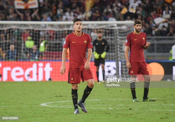 Lorenzo Pellegrini during the UEFA Champions League group C football match AS Roma vs Atletico Madrid FC at the Olympic Stadium in Rome on september...