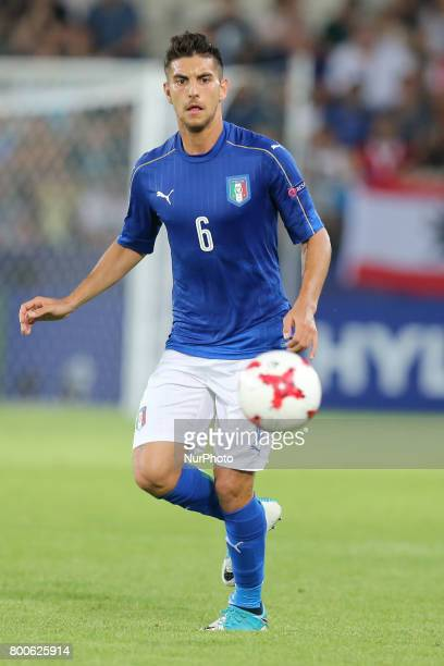 Lorenzo Pellegrini during the UEFA U21 European Championship Group C football match Italy v Germany in Krakow Poland on June 24 2017