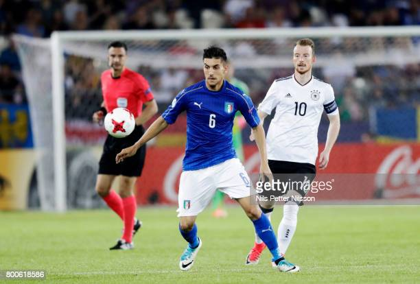 Lorenzo Pellegrini of Italy during the UEFA U21 championship match between Italy and Germany at Krakow Stadium on June 24 2017 in Krakow Poland