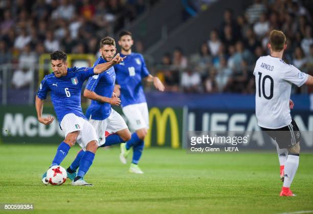 Lorenzo Pellegrini of Italy during their UEFA European Under21 Championship 2017 match against Germany on June 24 2017 in Krakow Poland