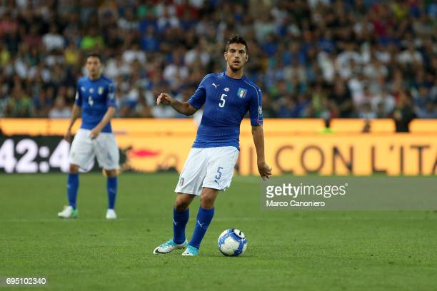 Lorenzo Pellegrini of Italy in action during the FIFA 2018 World Cup Qualifier match between Italy and Liechtenstein Italy went on to win the match 50