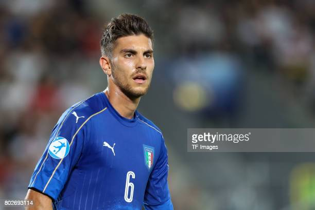 Lorenzo Pellegrini of Italy looks on during the UEFA U21 championship match between Italy and Germany at Krakow Stadium on June 24 2017 in Krakow...
