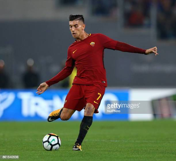 Lorenzo Pellegrini of Roma during the Italian Serie A football match Roma vs Napoli at the Olympic Stadium in Rome on October 14 2017