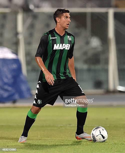 Lorenzo Pellegrini of Sassuolo in action during the preseason friendly match between Pescara Calcio and US Sassuolo Calcio at Adriatico Stadium on...