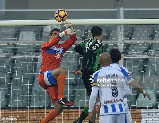Lorenzo Pellegrini of US Sassuolo scores the goal 12 during the Serie A match between Pescara Calcio and US Sassuolo at Adriatico Stadium on January...